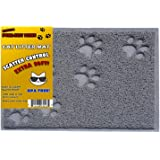 Playay Premium Quality Cat Litter Mat, Litter Trapper Mat, Food Mat, Kitty Litter Catcher with Scatter Control, Odor Repelling, small-medium