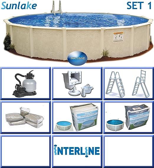 Interline 55000111 redondo Piscina Pool Set 1 sunlake 3, 60 m de ...