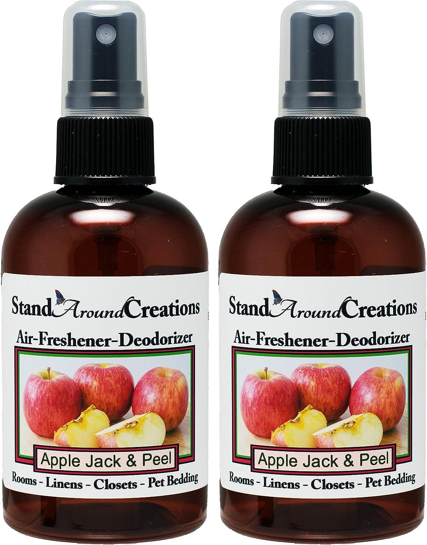 Set of 2 - Concentrated Spray For Room / Linen / Room Deodorizer / Air Freshener - 4 fl oz - Scent - Scent: Apple Jack & Peel