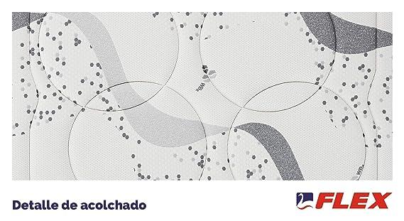 FLEX Colchón muelles continuos biocerámico WBx 300 Visco Firmeza Superior, 135 x 190 cm: Amazon.es: Hogar