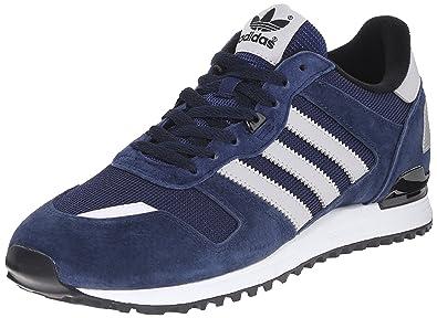 39ea515c8 adidas Originals Men s ZX 700 Lifestyle Runner Sneaker Collegiate  Navy Light Solid Grey