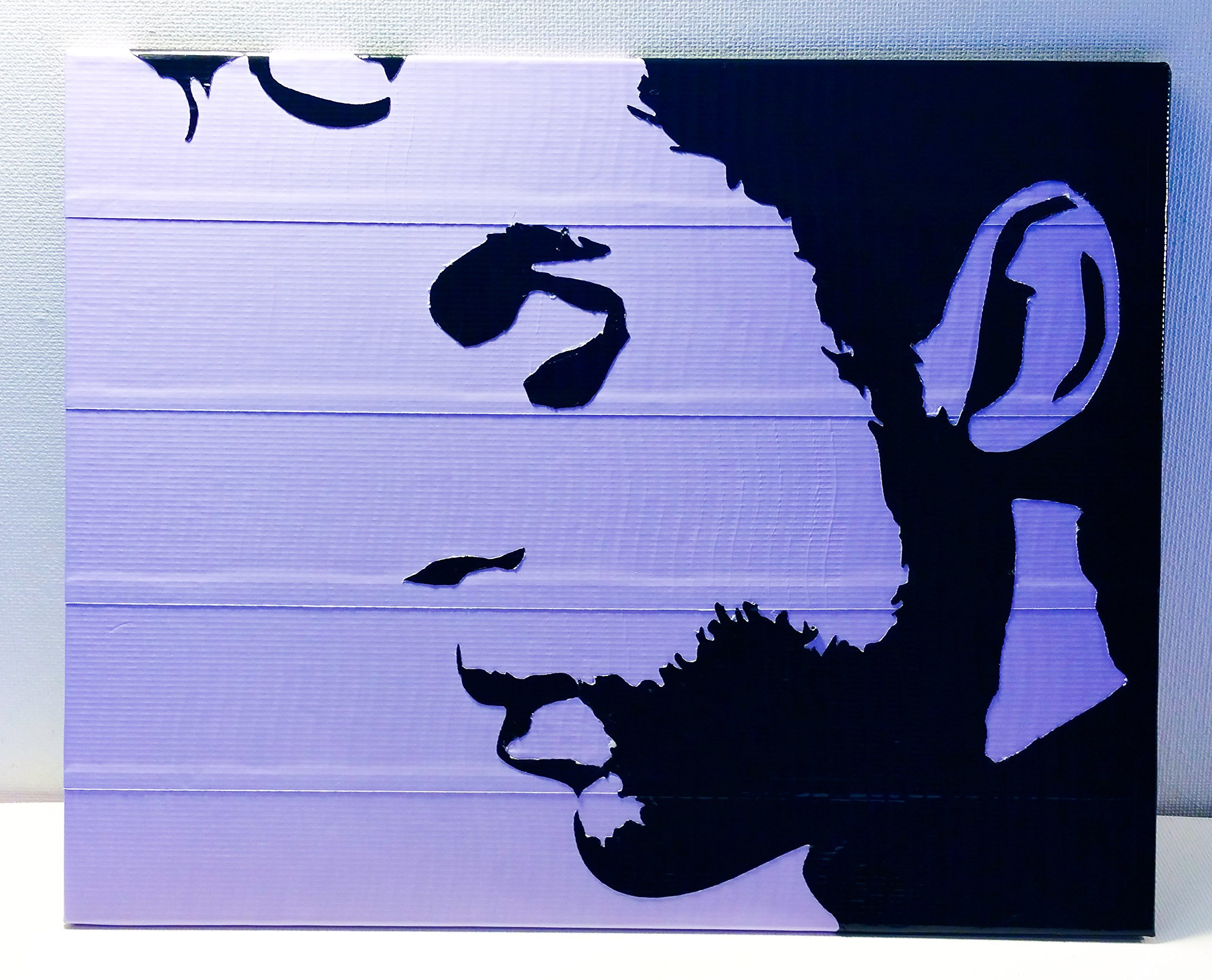 Duct Tape and Vinyl Art Piece of Prince