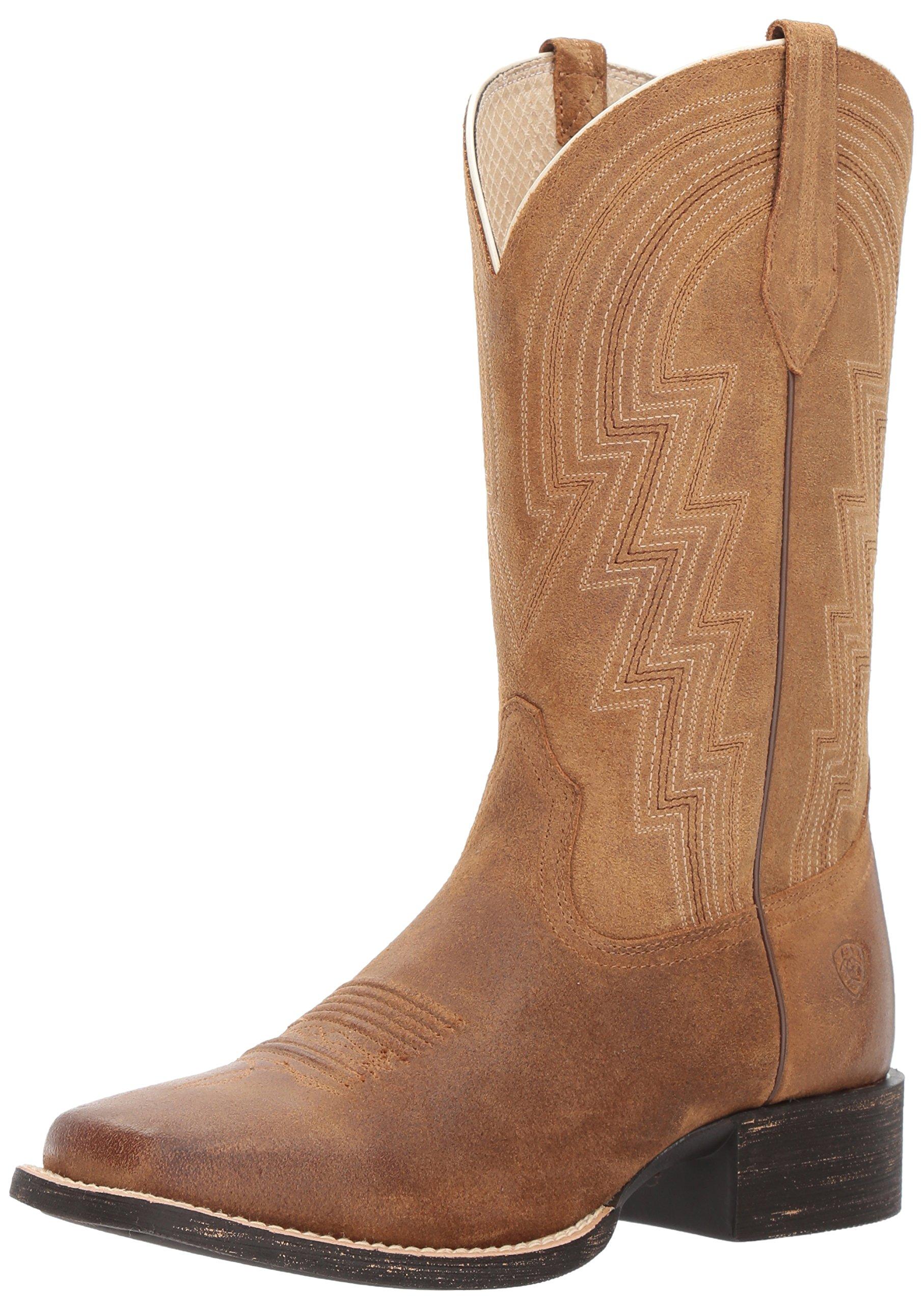 Ariat Women's Round up Waylon Work Boot, Old West Tan, 6 B US
