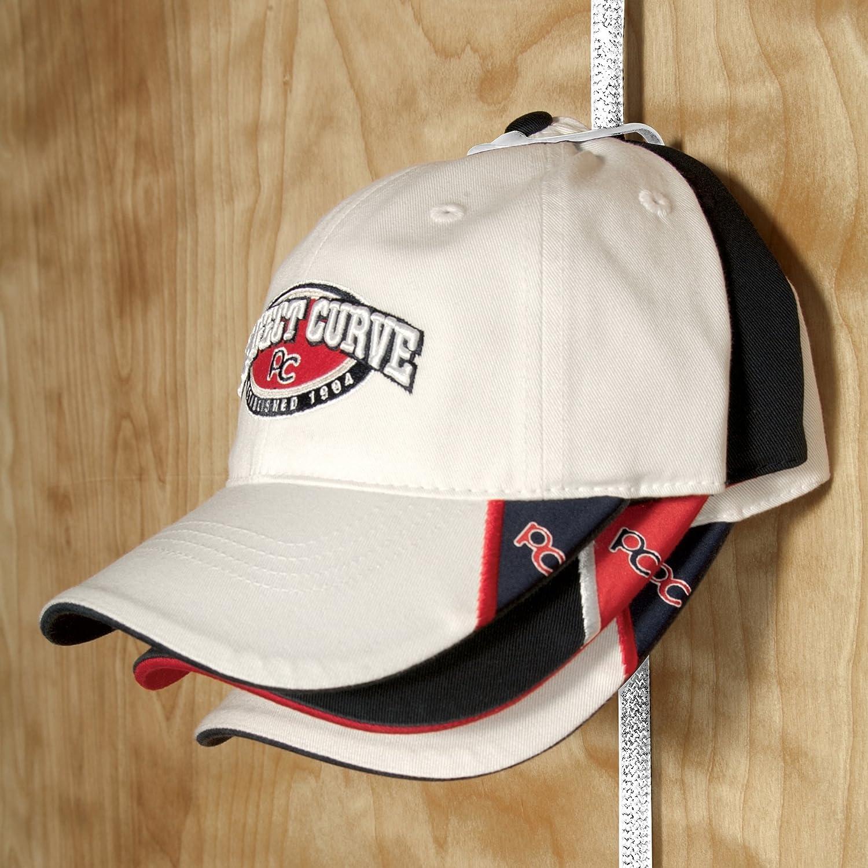 Organizador de gorras Cap Rack Pro 30 con capacidad para 30/de color blanco de Perfect Curve