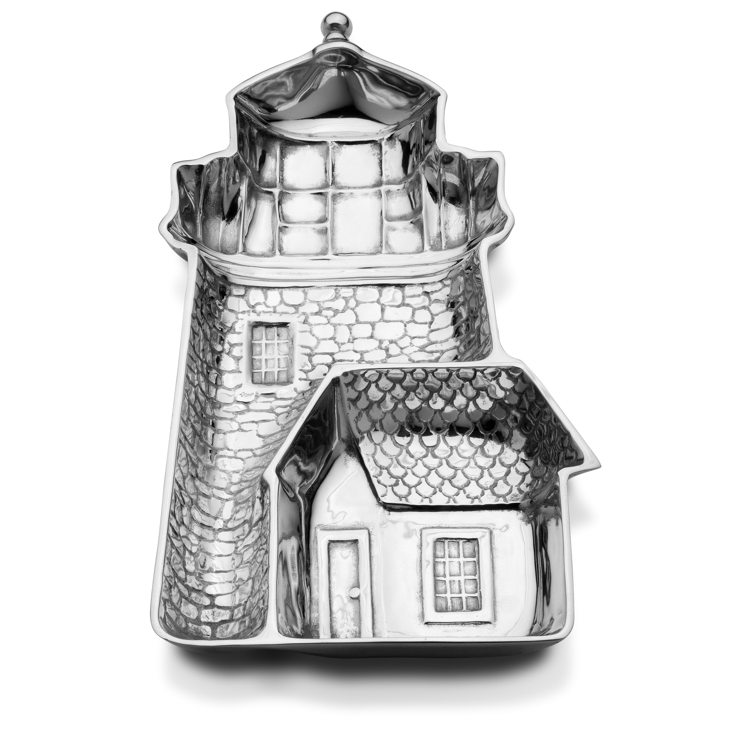 Wilton Armetale Sea Life Lighthouse Chip and Dip Server, 16-Inch-by-9-Inch