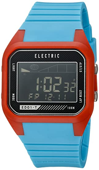 Amazon.com: Electric Unisex EW0120030075 ED01 TIDE Digital Display Japanese Quartz Blue Watch: Watches