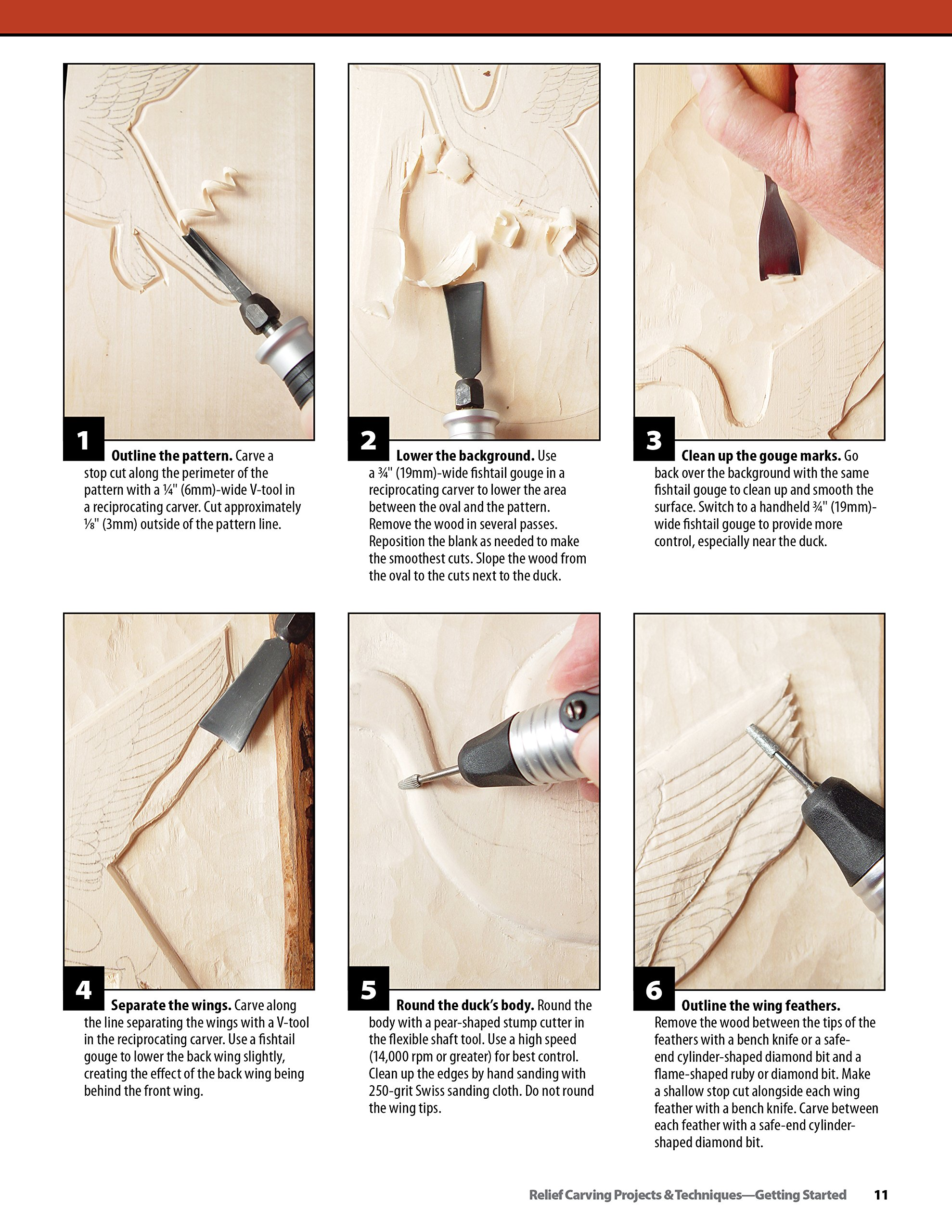 Relief Carving Projects & Techniques: Expert Advice and 37