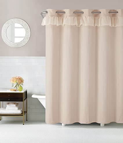 Hookless RBH29FC105 Waterfall Shower Curtain With Peva Liner