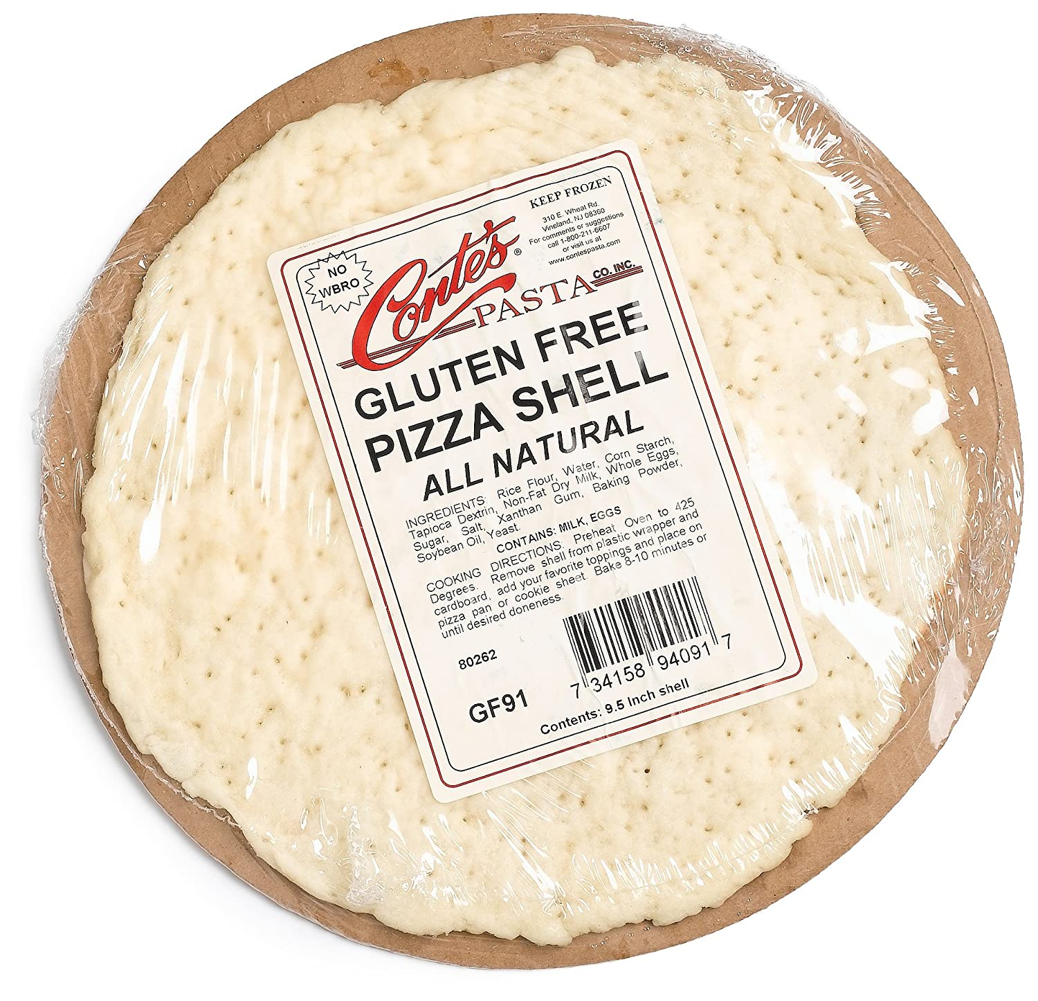 Conte S Gluten Free Prebaked Pizza Shell 8 Ounce Boxes Pack Of 5 Amazon Com Grocery Gourmet Food