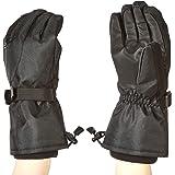 Amazon Basics Waterproof Snow Gloves, Black, XL