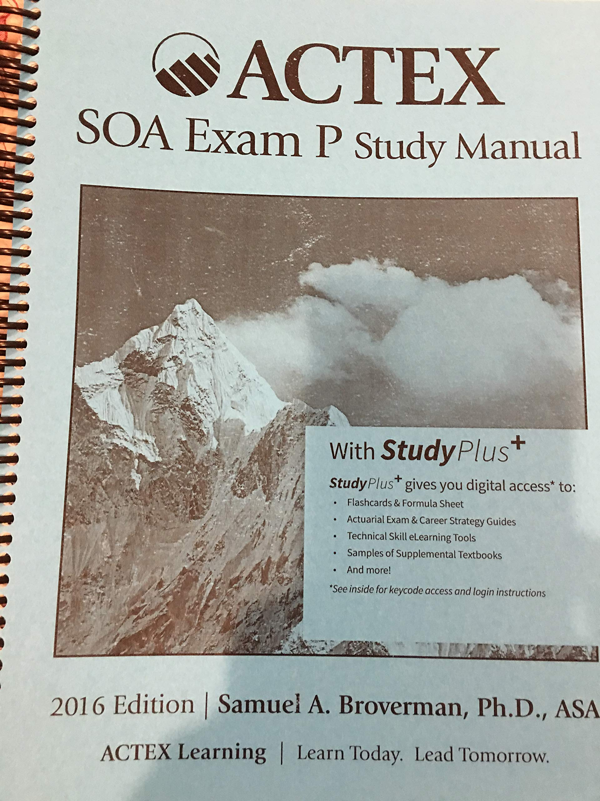 ACTEX SOA Exam P Study Manual: Samuel A. Broverman: 9781635880885:  Amazon.com: Books