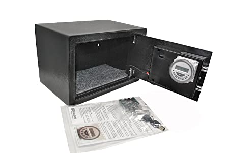 TIME LOCK DEPOSITORY SAFE (battery operated only): Amazon co