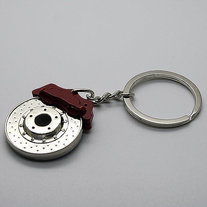 Llavero de lujo de metal, diseño de amortiguador, llanta ...
