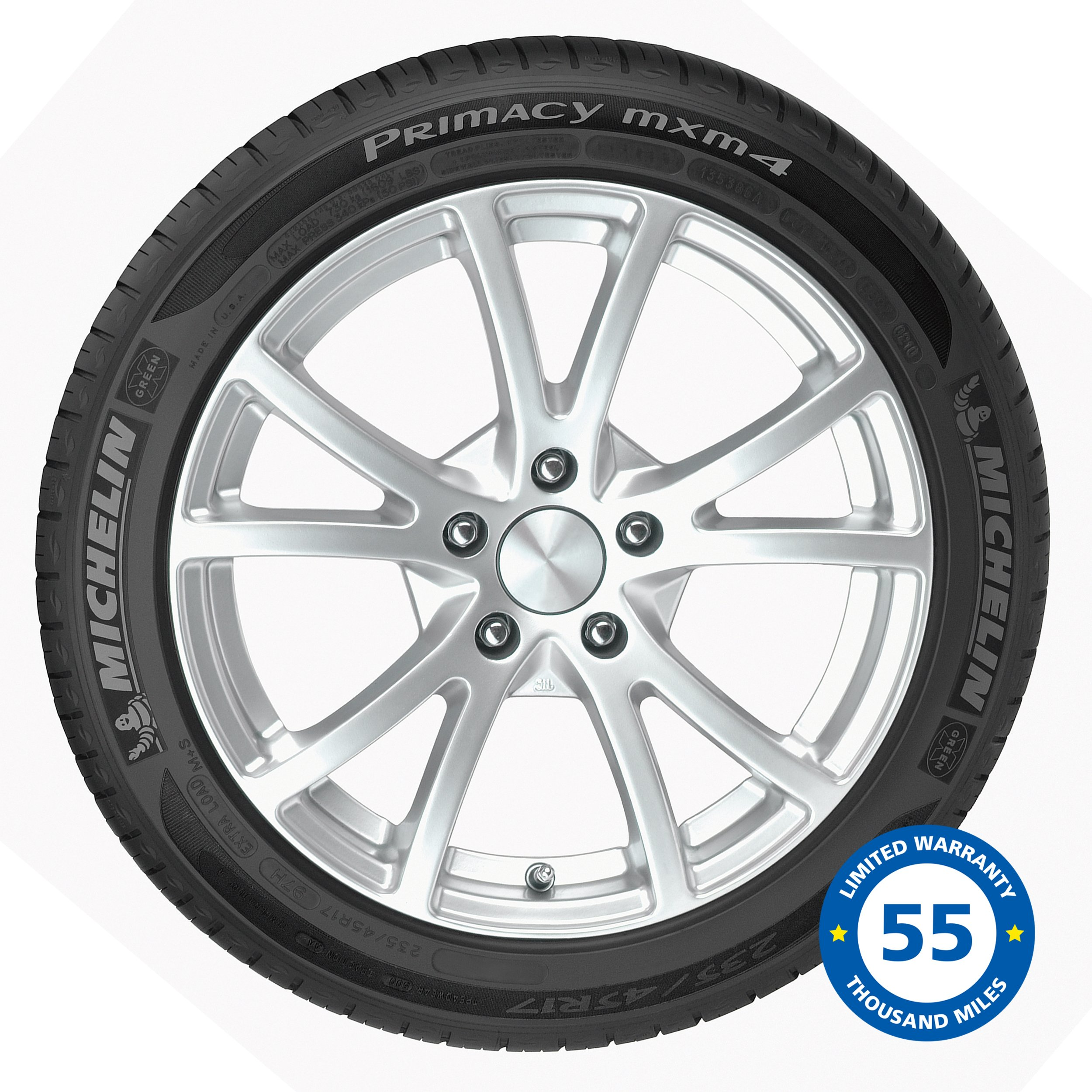 Michelin Primacy MXM4 Touring Radial Tire - 245/45R17/XL 99H