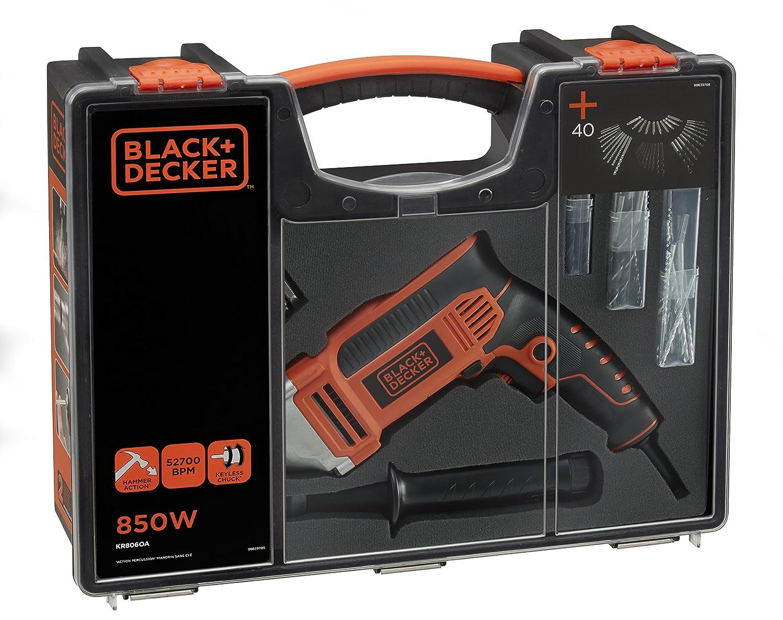 Black /& Decker KR806OA-QS,/perceuse /à percussion 850/W avec 40/accessoires et organiseur