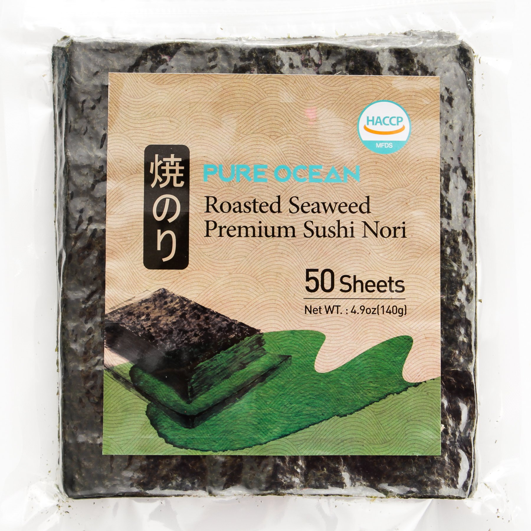 Dried Seaweed 50 Sheets_Korean Roasted Sushi Nori, Healthy Diet Food by Wando Kim