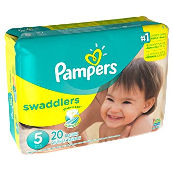 Pampers Swaddlers Diapers Size 5 Jumbo Pack 20 Count