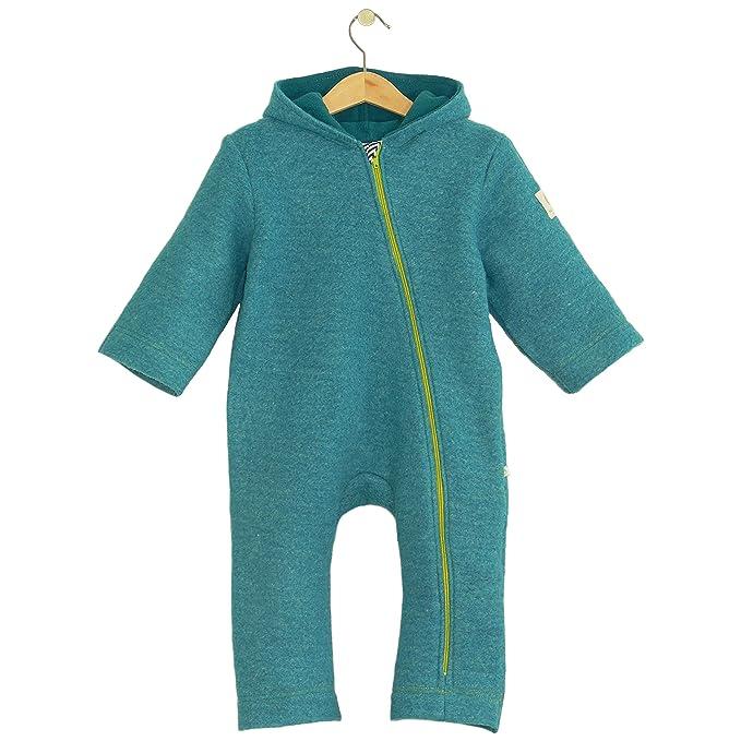bubble.kid berlin - Unisex Baby Mädchen Jungen Herbst Winter Anzug Overall Einteiler Jumpsuit Onepiece Onesie - Soft Walk Wol