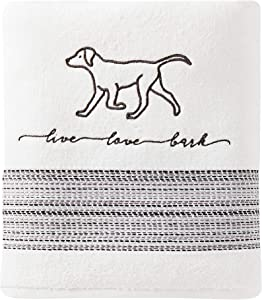 SKL Home by Saturday Knight Ltd. Fur Ever Friends Bath Towel, White