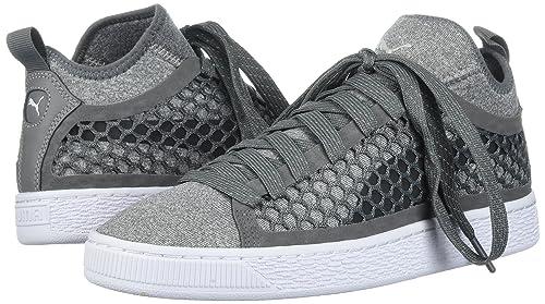 7ccbdb3b29cbb3 PUMA Men s Basket Classic Netfit Sneaker Smoked Pearl White