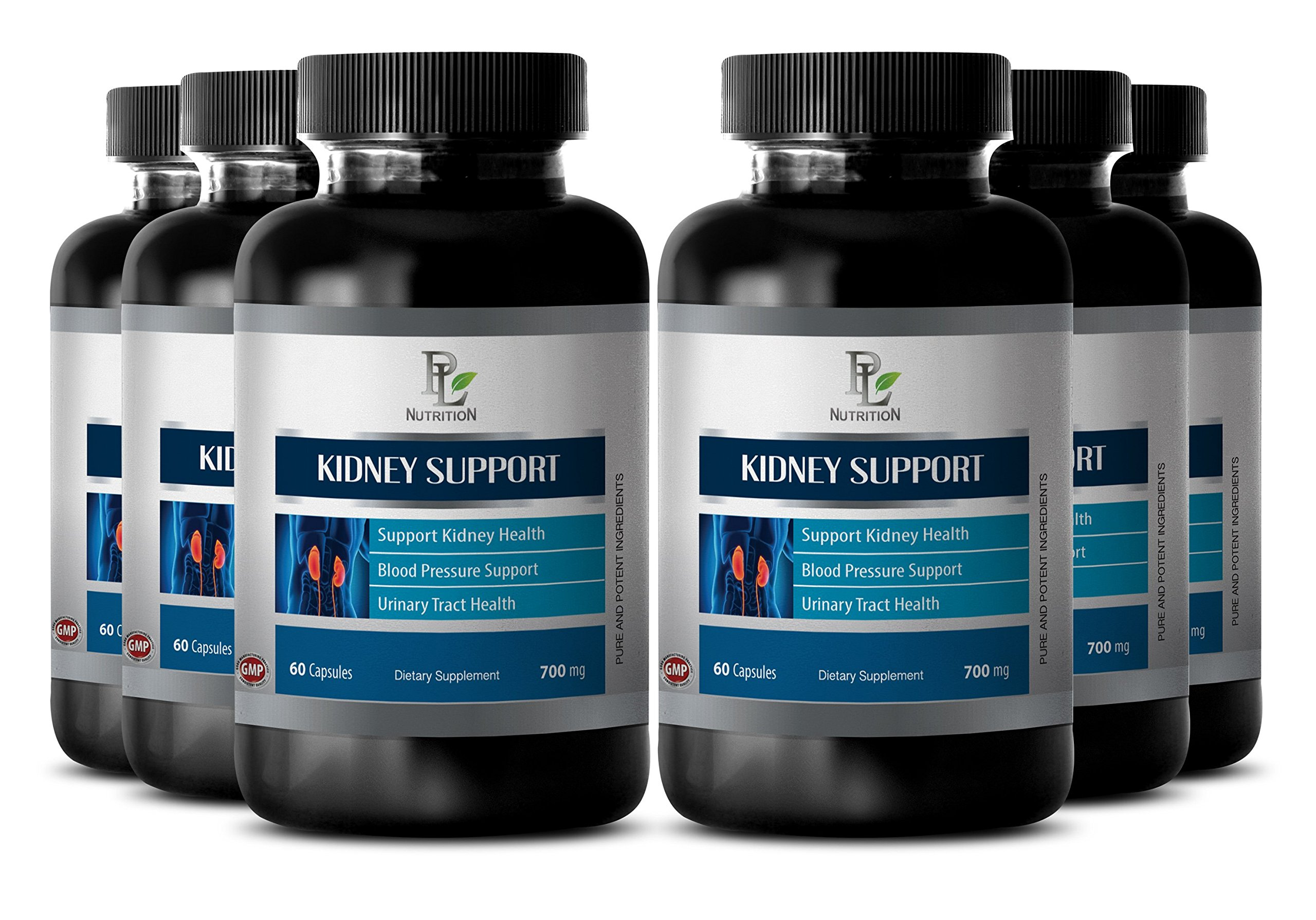 Prostate Health Supplements - Kidney Support Complex - Prostate Supplements - 6 Bottles 360 Capsules by PL NUTRITION