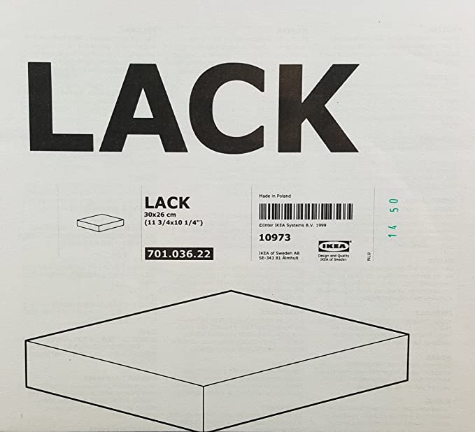 Amazon com ikea floating wall lack shelf black home decor stack of 3 shelves home kitchen