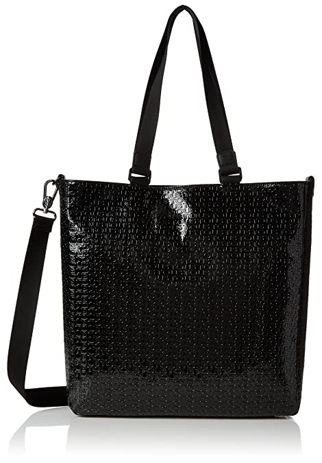 Tous Bolso Tiona Lindsay, Shopper para Mujer, Multicolor (Negro) 8x34x34 cm (