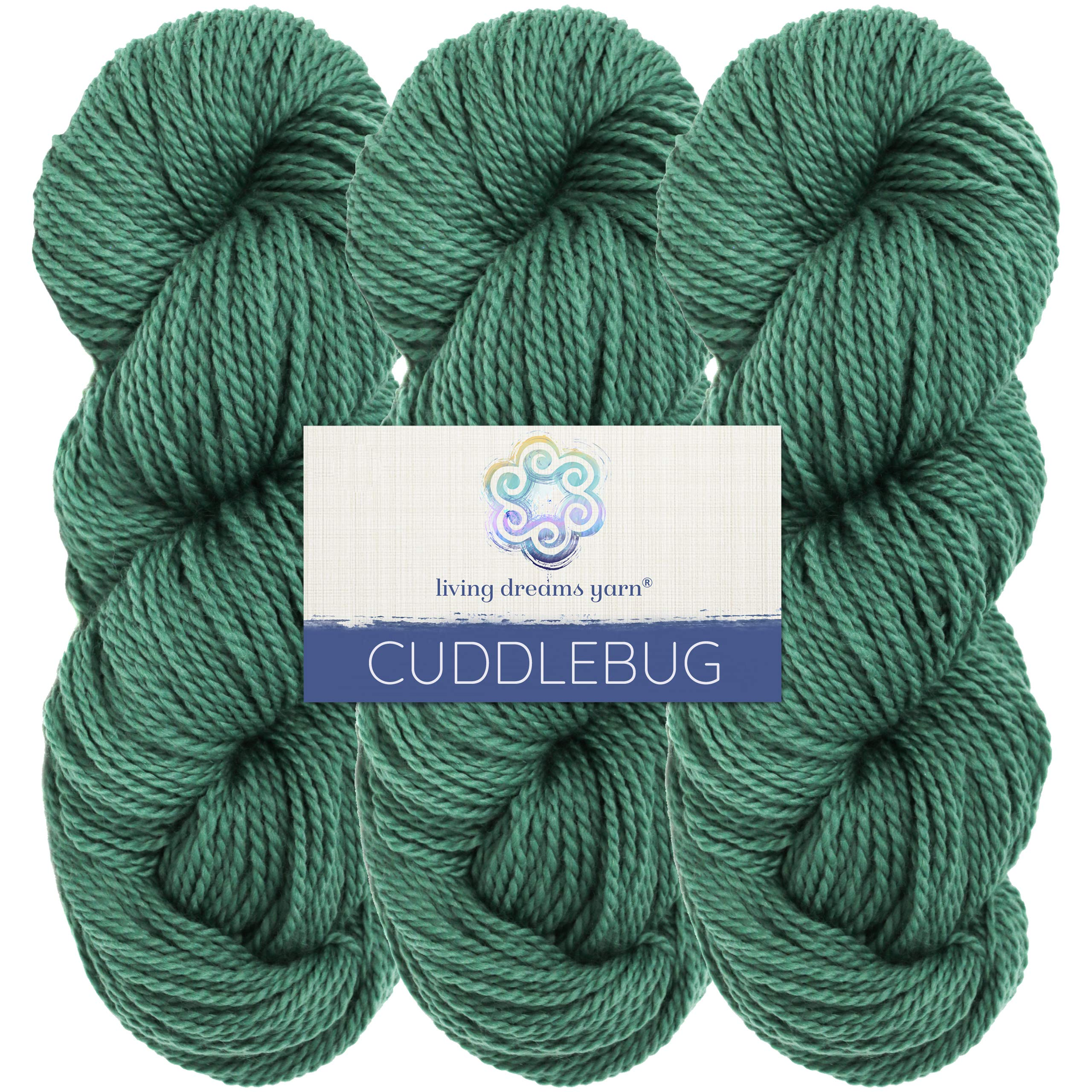 Living Dreams Yarn CUDDLEBUG DK - Botanically Dyed with Vegan Plant Dyes. Superfine Merino Spun in the Pacific Northwest. Cruelty Free & Responsibly Sourced. Three Pack: Olivia