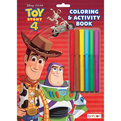 Toy Story Disney 4 Coloring and Activity Book with Markers Bendon 44591: Toys & Games