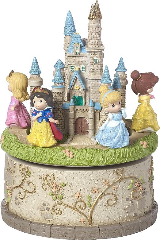 Precious Moments 164102 LED caja de música de resina de castillo ...