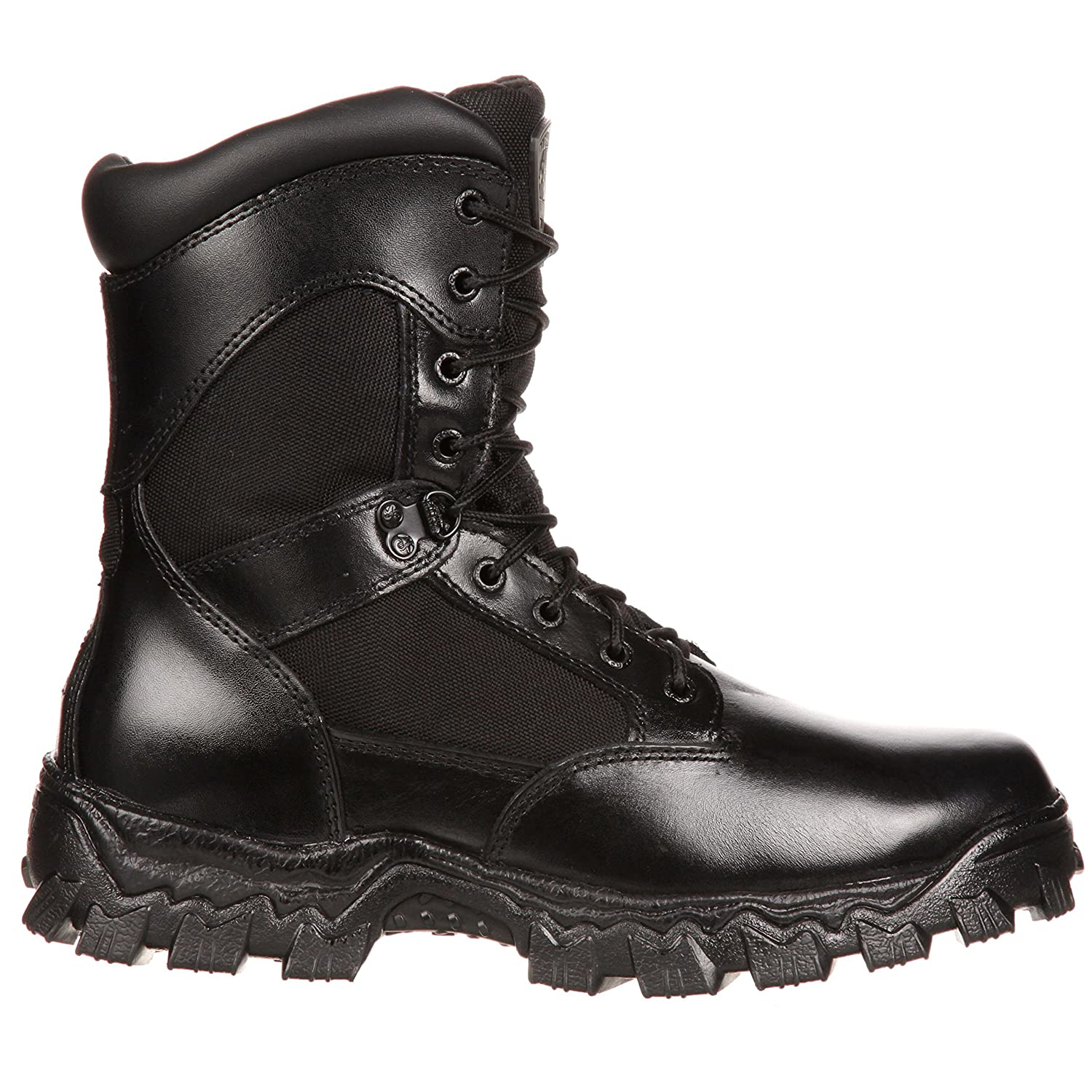 ab8250e9122 Rocky Men's Alpha Force Side Zipper Waterproof Insulated Duty Boot-RKYD011