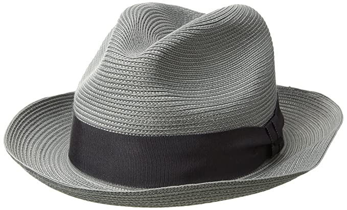 de22d16e5b296b Bailey of Hollywood Men's Craig Braided Fedora Trilby Hat, Graphite, ...