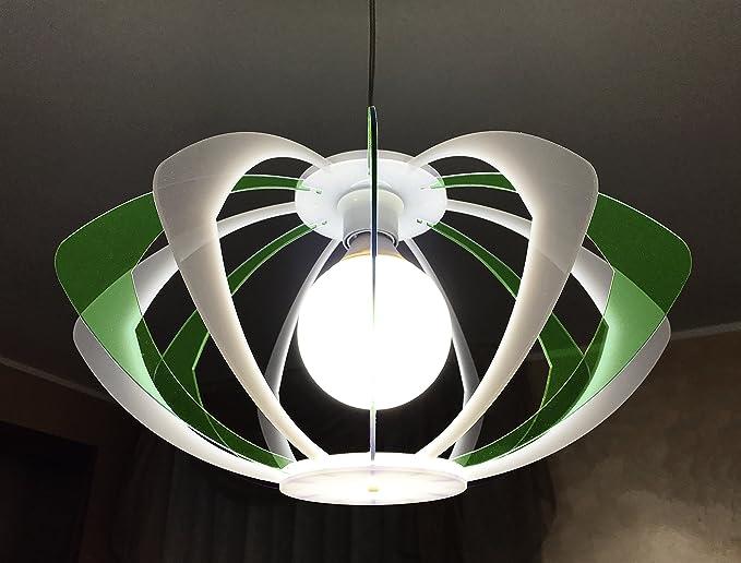 Lampadari E Plafoniere Abbinate : Lampadario rombo colore verde moderno sospeso design minimal