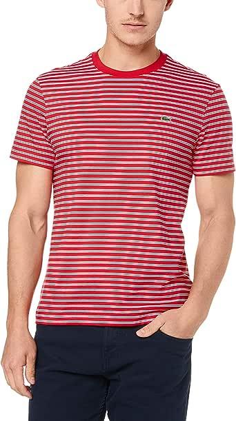 Lacoste Men's Crew Neck Stripe Tee