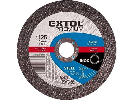EXTOL PREMIUM Discos de corte para acero inoxidable, 5 ...