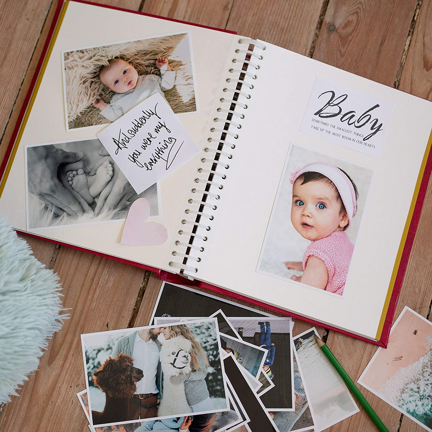 Victoria Collection Self Adhesive Photo Album Personalize Your Fotoalbum with Different Sized Pictures Easy to Fill /& Long Lasting Large Photograph Album Idea