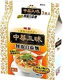 明星 中華三昧 辣椒白湯麺 3食P×2個