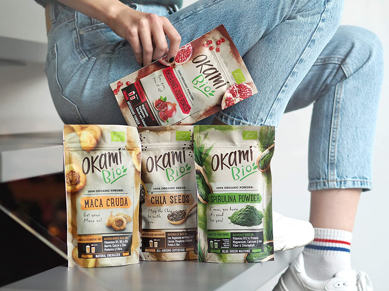 Okami Bio   Semillas de Chia   100% Orgánico   Vegano   Superalimento   Alto contenido de Fibras  Antioxidantes   Proteinas   Para darle el impulso ...