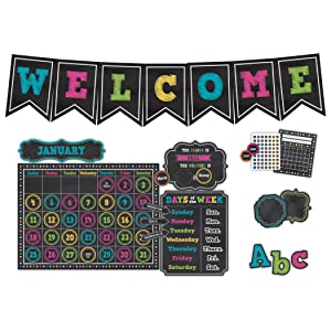 Teacher Created Resources TCR9665 Chalkboard Bright's Classroom Set (Pack of 6)