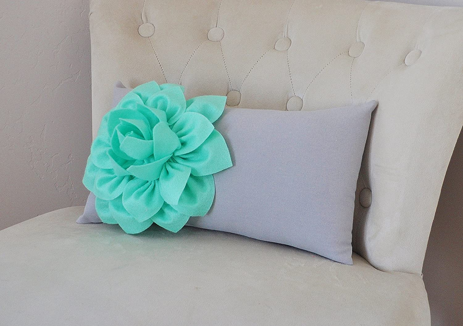Peachy Amazon Com Mint And Gray Decorative Lumbar Pillow Handmade Ocoug Best Dining Table And Chair Ideas Images Ocougorg
