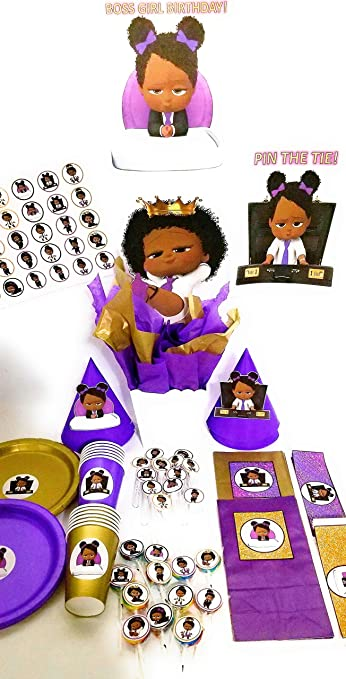 Amazon Com African American Boss Baby Party Supplies