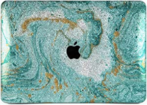 """Cavka Hard Glitter Case for Apple MacBook Pro 13"""" 2019 Retina 15"""" Mac Air 11"""" Mac 12"""" Bling Paint Rose Gold Oil Art Cover Glossy Design Sparkly Print Pastel Blue Fluid Acrylic Shiny Silver Abstract"""