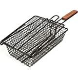 Charcoal Companion Non-Stick Shaker Basket for Grilling