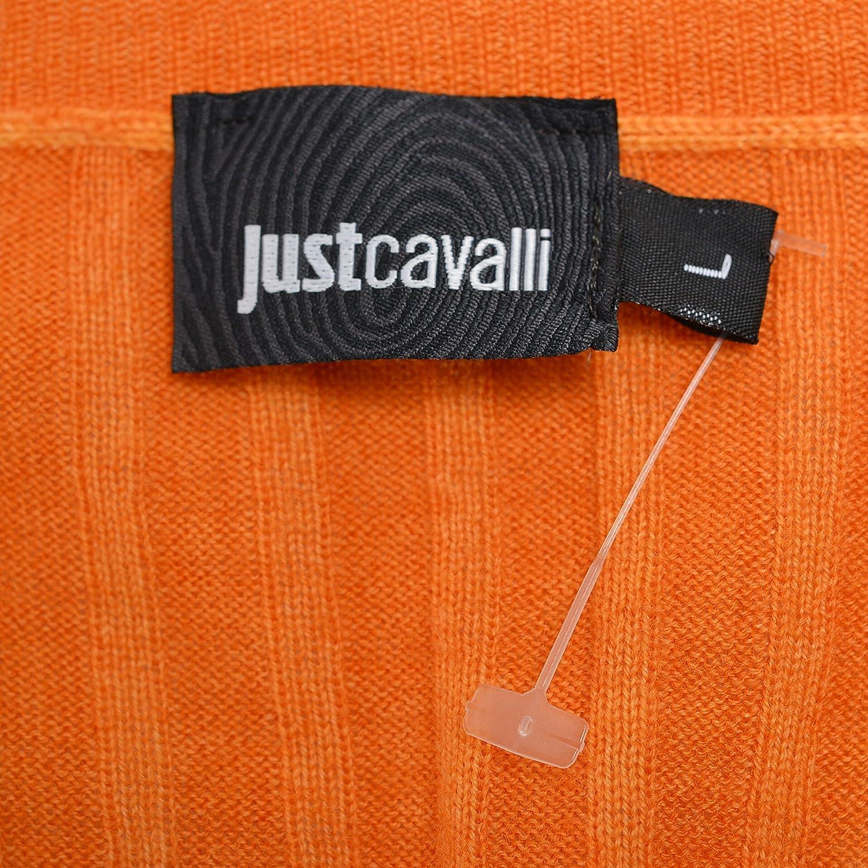 Just Cavalli Mens Orange 100/% Wool Button Down Cardigan Sweater US L IT 52