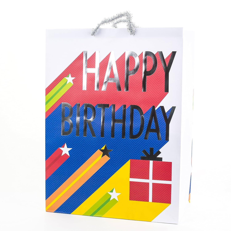 Amazon Hallmark Oversized Birthday Gift Bag Stars Kitchen Dining