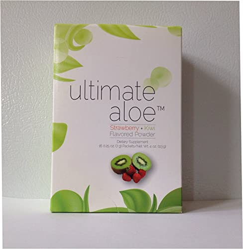 Ultimate Aloe Powder – Strawberry Kiwi Flavor Single Box 16 Servings