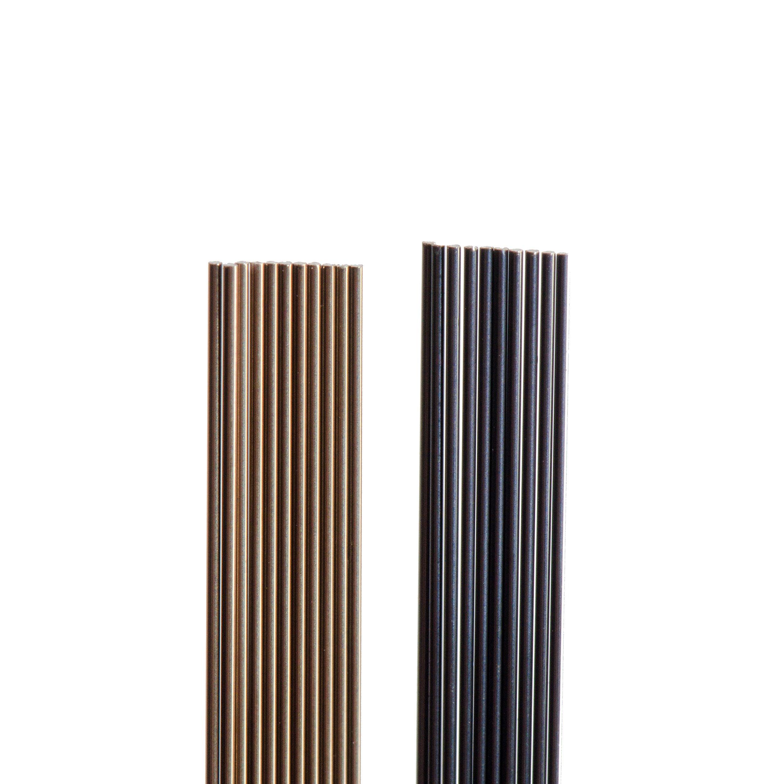 Nitinol #1 Wire, Oxide Finish, Super Elastic Temper, 0.009'' Diameter, 72'' Length