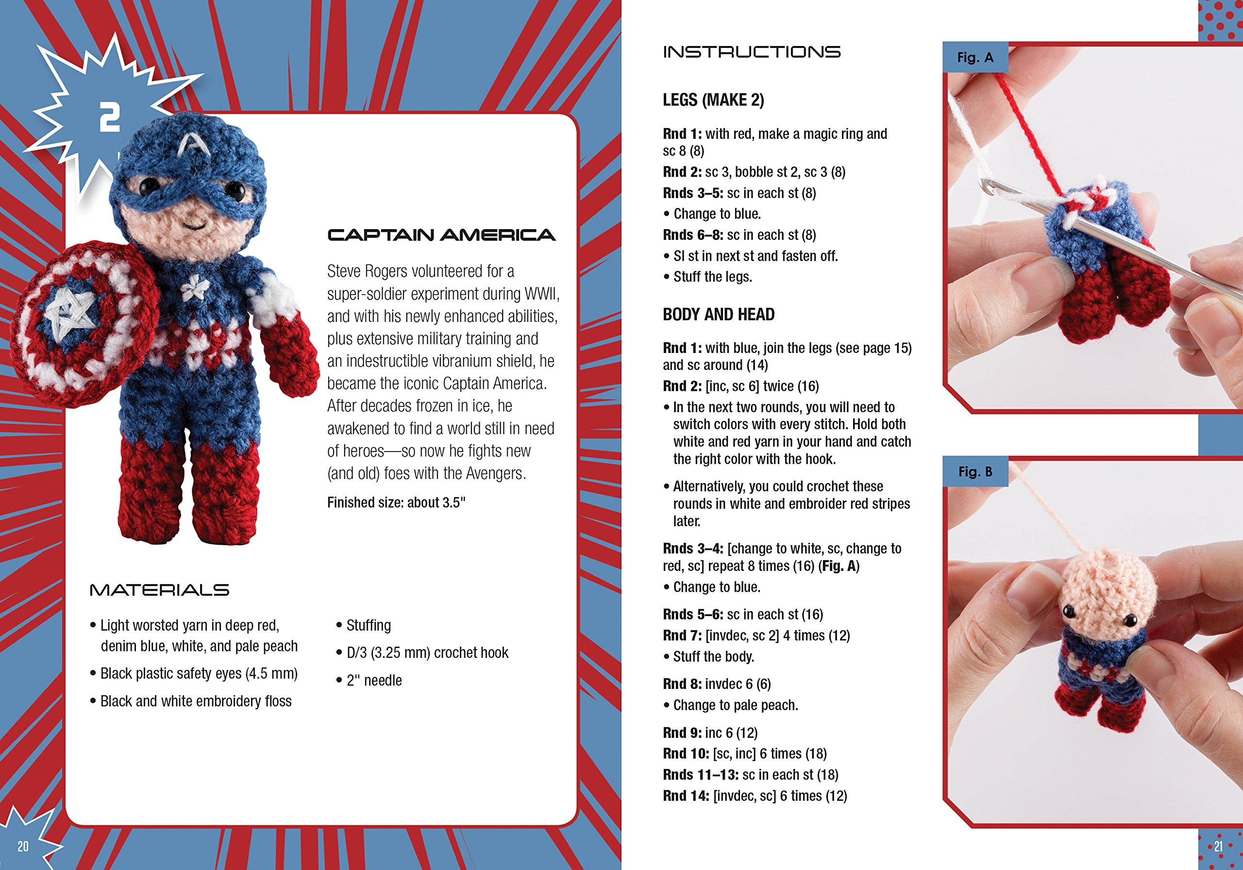 Marvel Universe Crochet Crochet Kits Kati Galusz 9781626866553