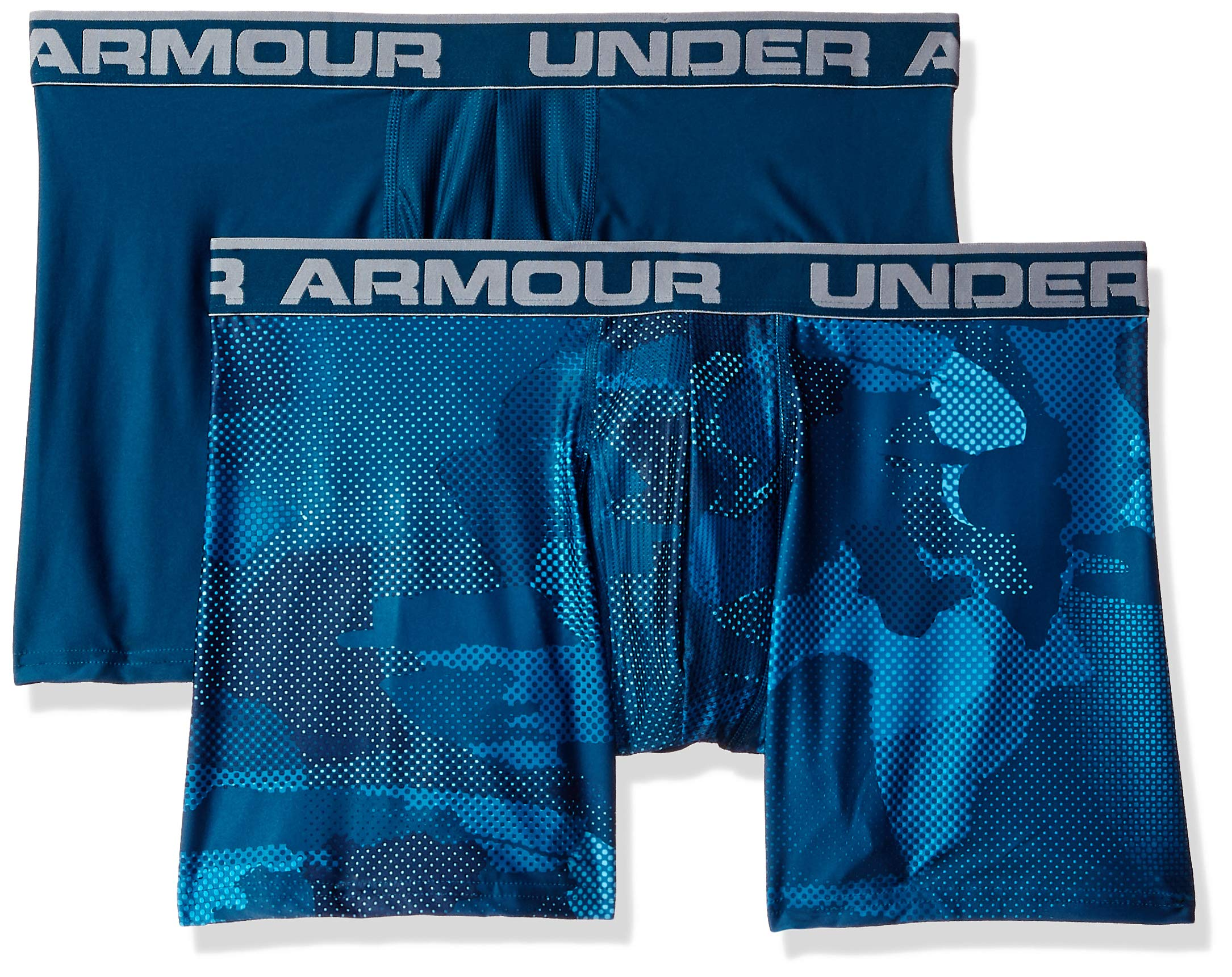 Under Armour Men's O-Series 6in Boxerjock 2pk novelty, Deceit (439)/Techno Teal, X-Large by Under Armour