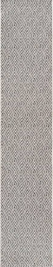 Amazon Com Erin Gates By Momeni Downeast Wells Area Indoor Outdoot Outdoor Rug 2 X 10 Charcoal Furniture Decor